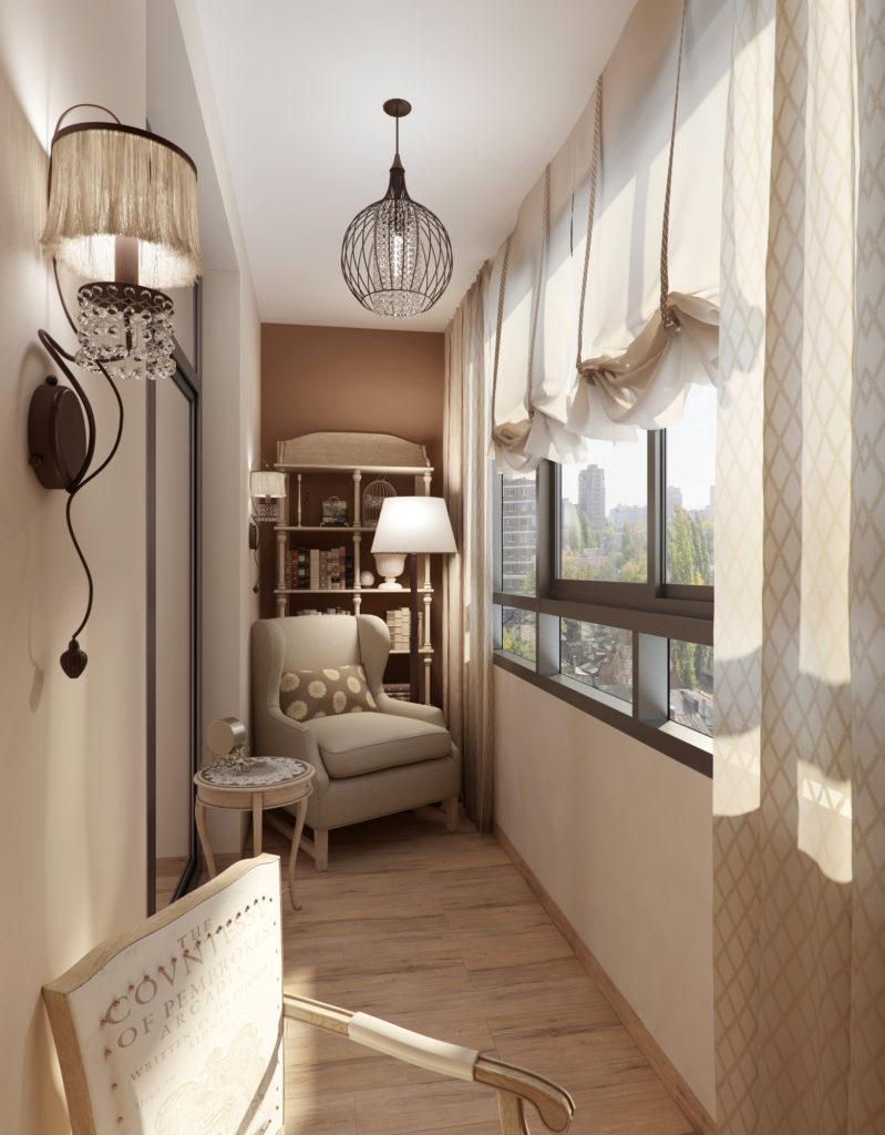 Дизайн балкона в классическом стиле
