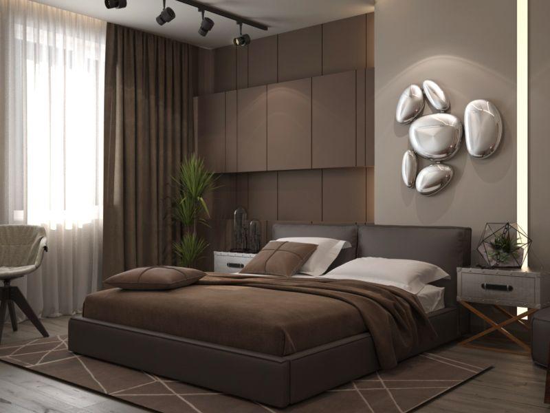 Коричневая спальня фото дизайн