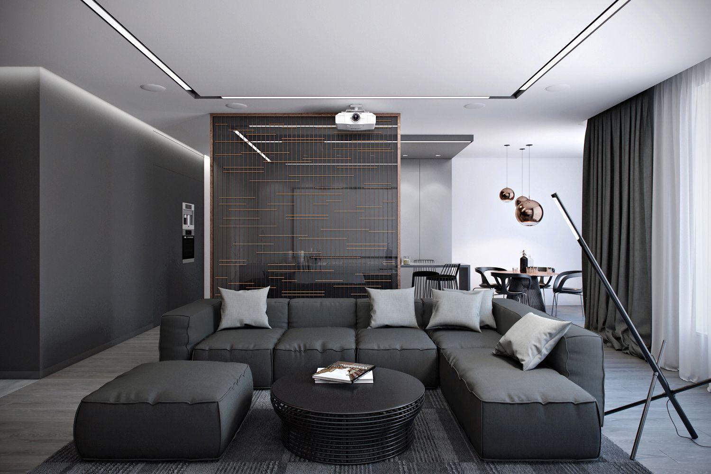 оформление гостиной в современном стиле