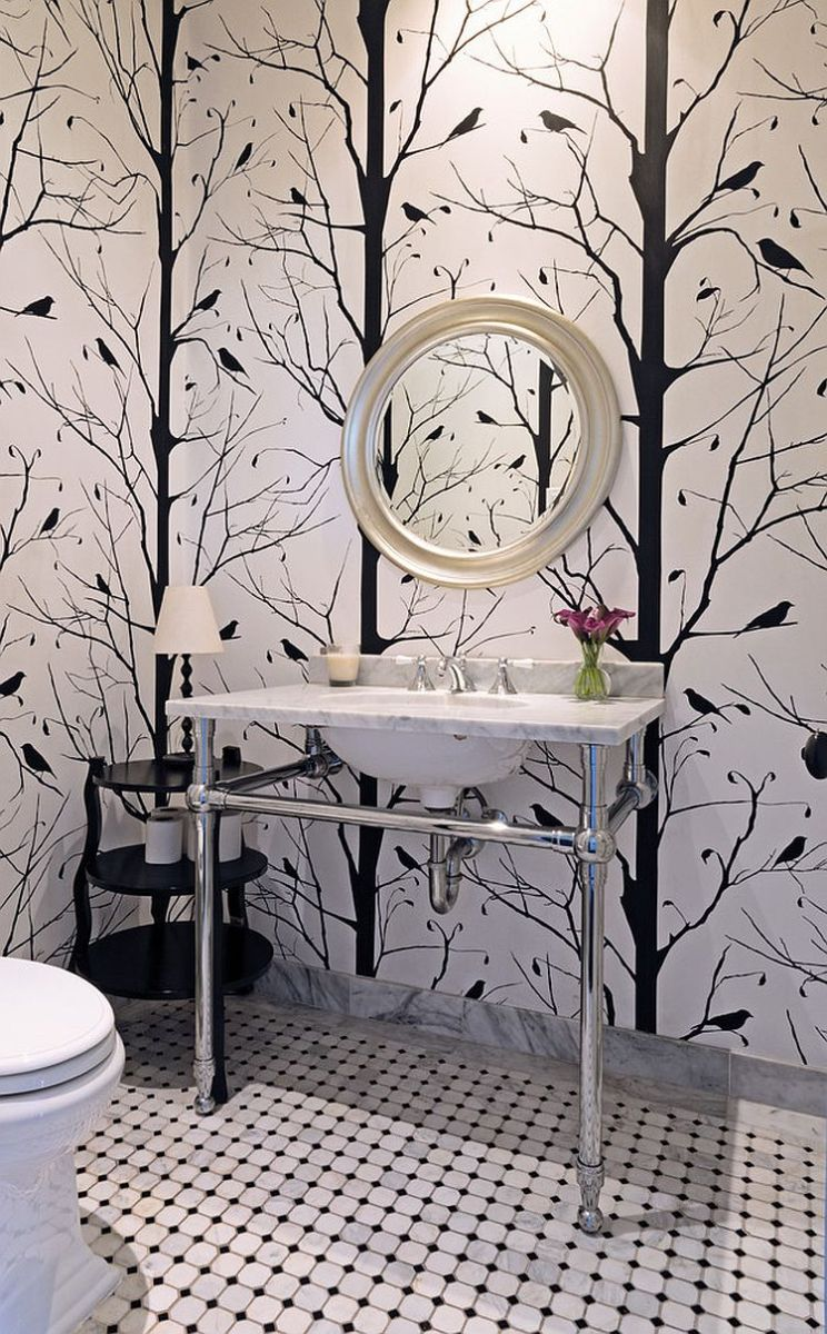 blackbird-wallpaper-for-the-black-and-white-powder-room