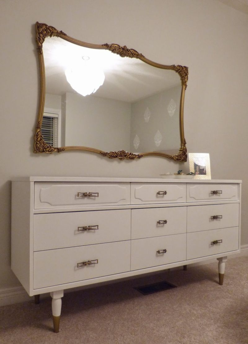 cherish-interior-design-projecta-bedroom-9-drawer-dresser-vintage-mirror