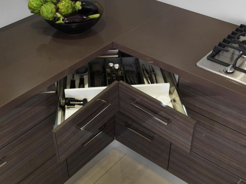 contemporary-dark-brown-corner-kitchen-design