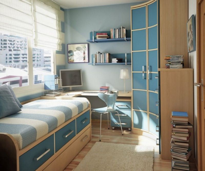 fascinating-ideas-for-teenage-bedroom-decor-with-narrow-closet