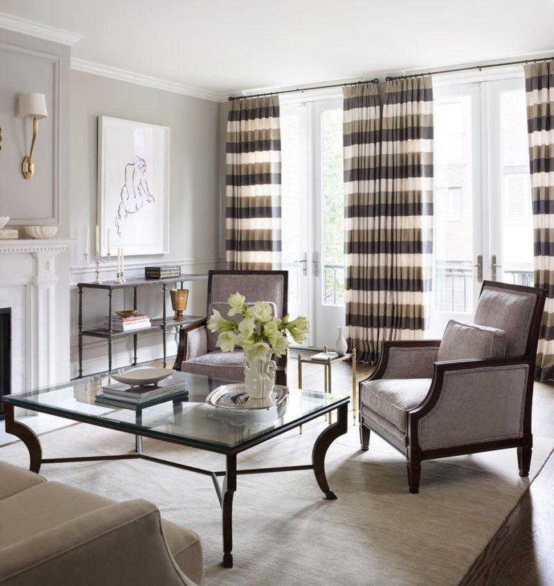 glamorous-curtains-for-french-doors-trend-chicago-traditional-living-room-image-ideas-with-area-rug-artwork-balcony-baseboards-chairs-coffee-table-crown-molding-drapes-fireplace-mantel-floral