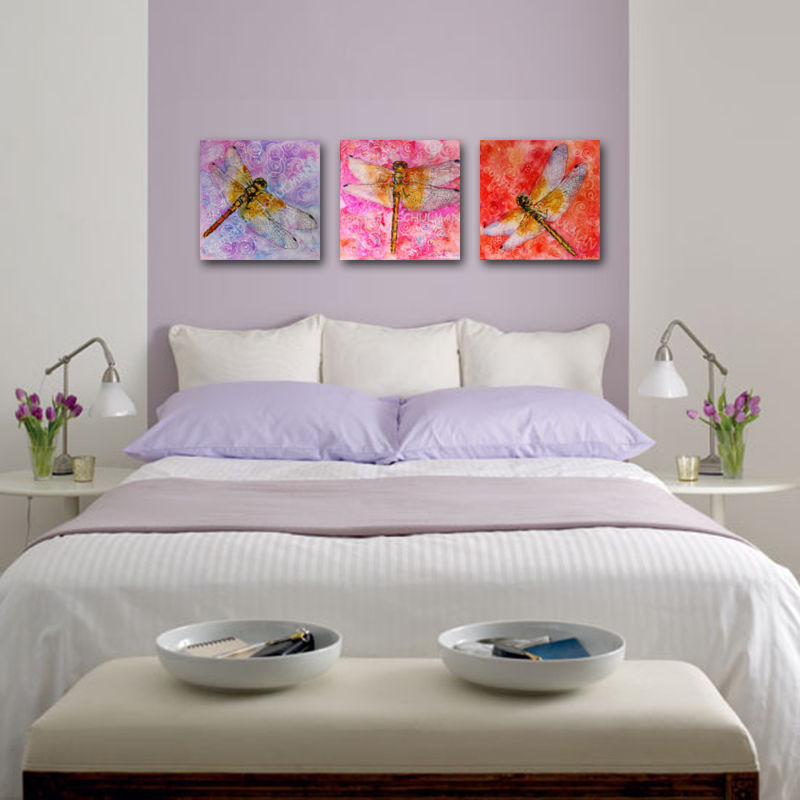 Lavender and white bedroom