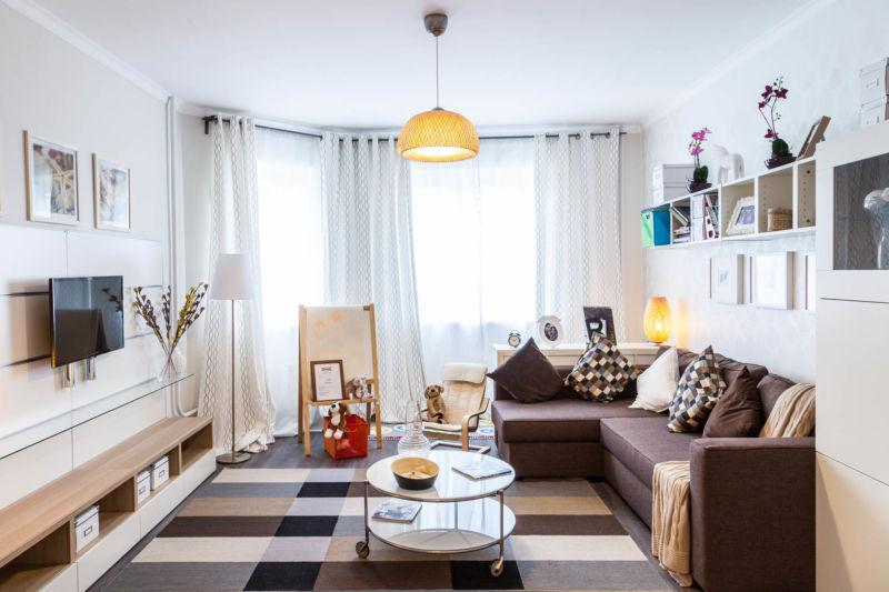 Дизайн занавесок фото в гостиную