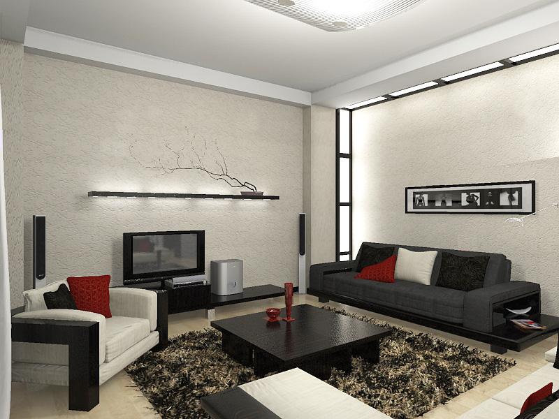 интерьер зала минимализм