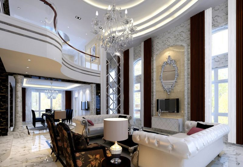 neoclassical-style-villa-living-and-dining-room-model