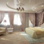 натяжные потолки в спальню фотогалерея