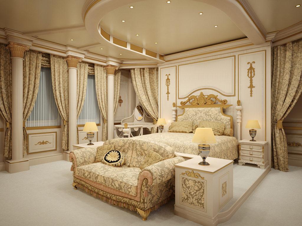 Стиль ампир в дизайне спальни