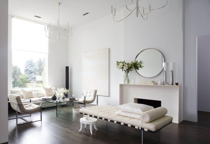 гостиная в белом цвете минимализм