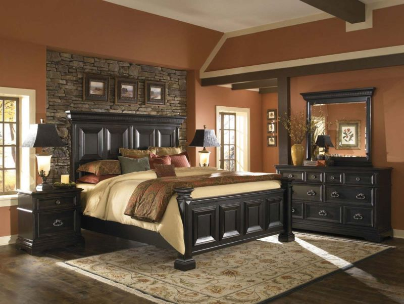bedroom-collection-pulaski-pf-bed-set-traditional-bedroom-brown-pulaski-bedroom-suites