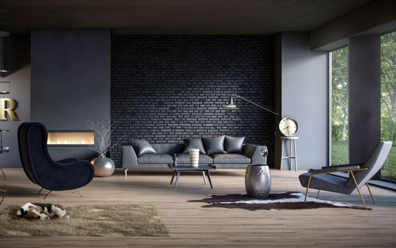black-living-room-ideas