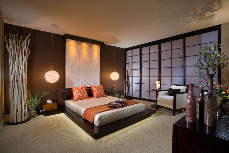 brown-bedroom-color-ideas-japanese