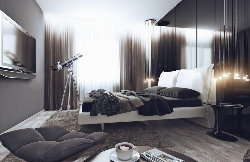 спальня, фото, дизайна, темного цвета