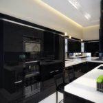кухня, фото, темный, дизайна, темной кухни, кухня фото