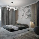 серый, спальня, фото, оформление, интерьер, серого цвета