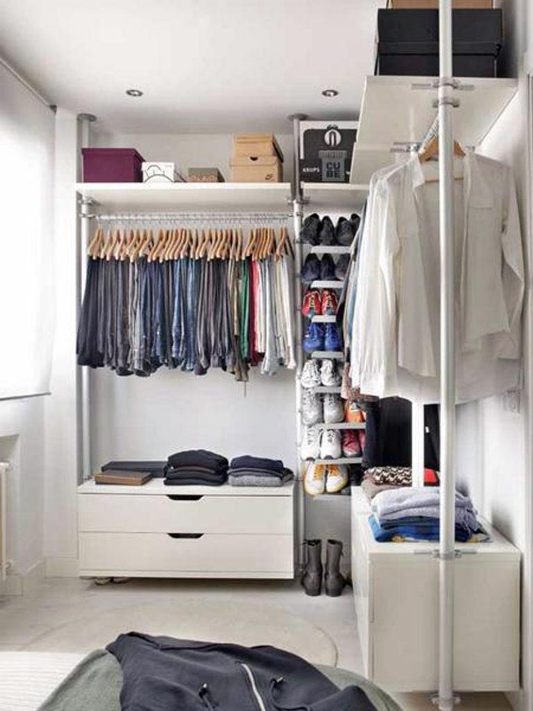Гардеробная в спальне - лучших идей оформления удобной гарде.