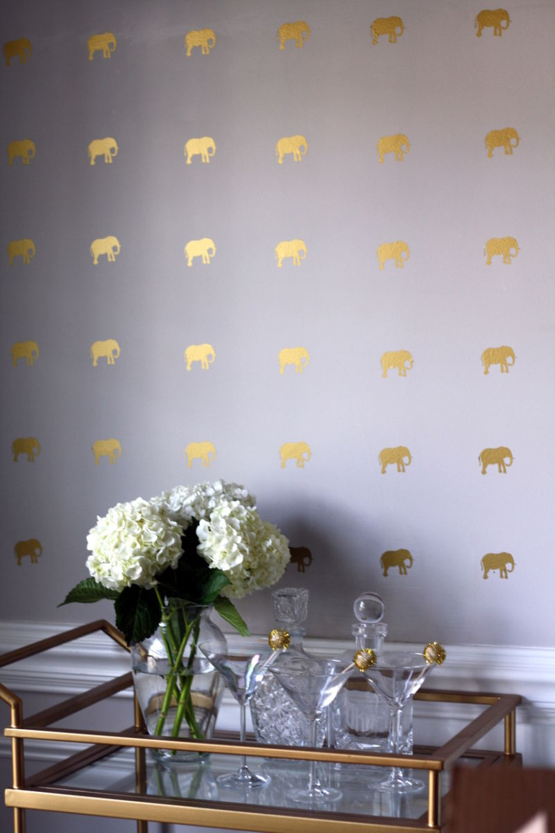 elephant-purple-and-gold-wallpaper-design-ideas-home-wainscoting-cute-wallpaper-animal-print-wallpaper-diy-bar-cart-how-to-make-inspiration-perfume-bottles-decor-gold-shop-room-ideas