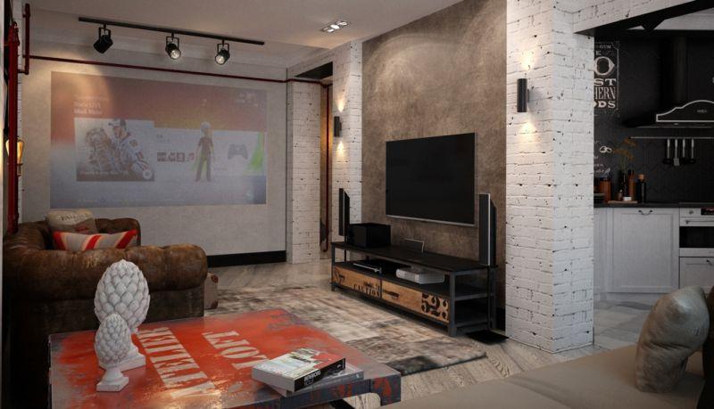gostinaya-v-stile-loft-s-bolshim-televizorom
