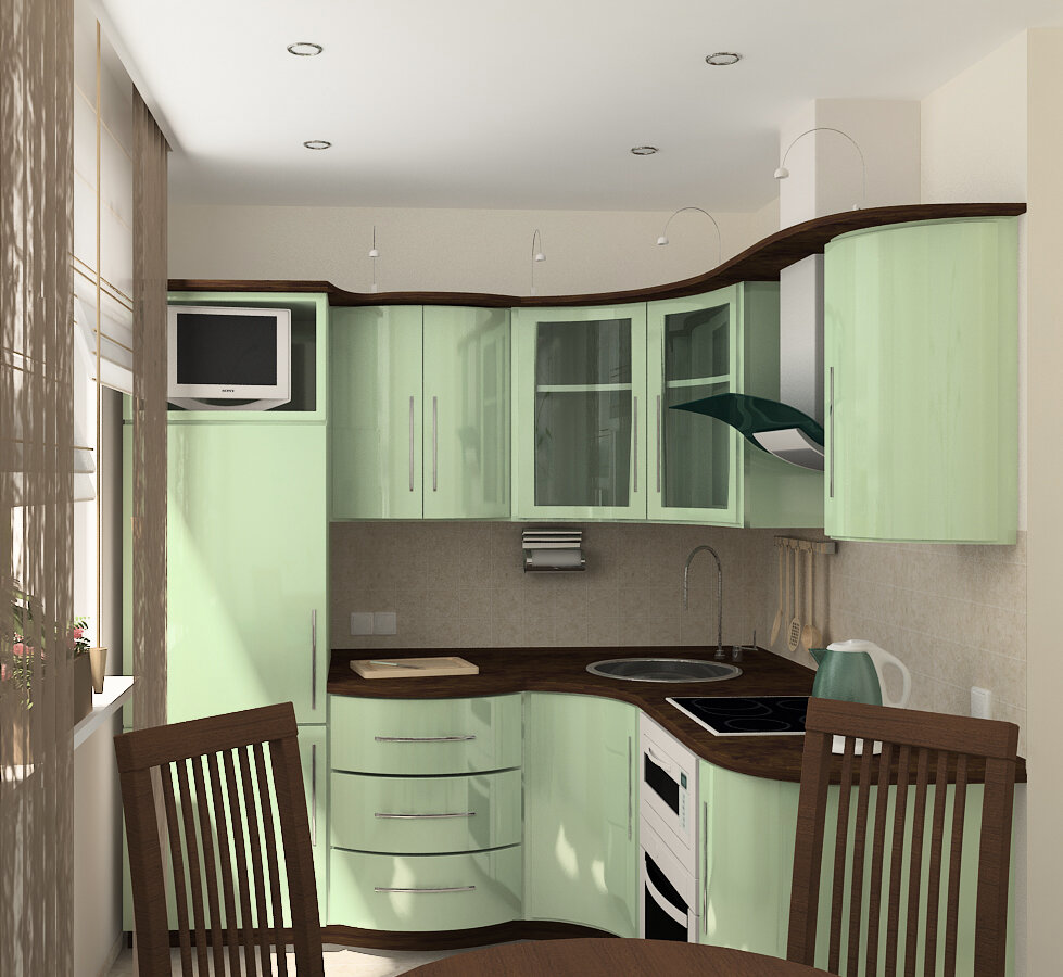Кухня 6 кв. м - 85 фото