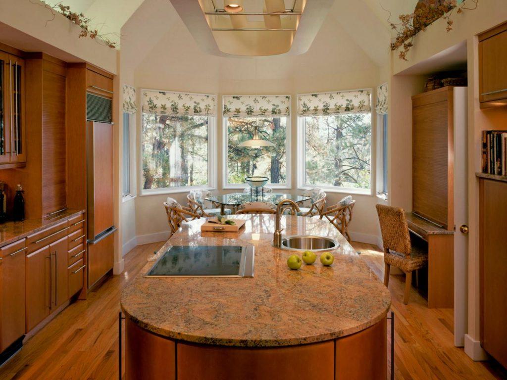 Идеи планировки и дизайн кухни с эркером (25 фото).