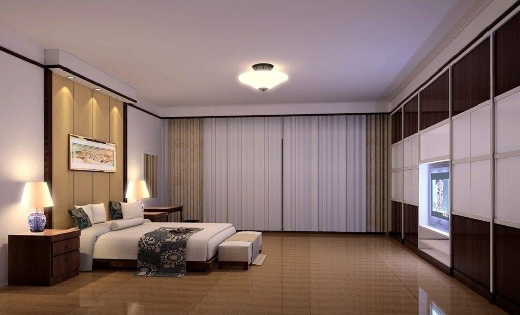 натяжной потолок фото со светильниками