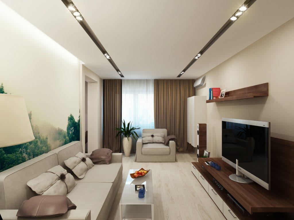 интерьер гостиной в стиле минимализм фото