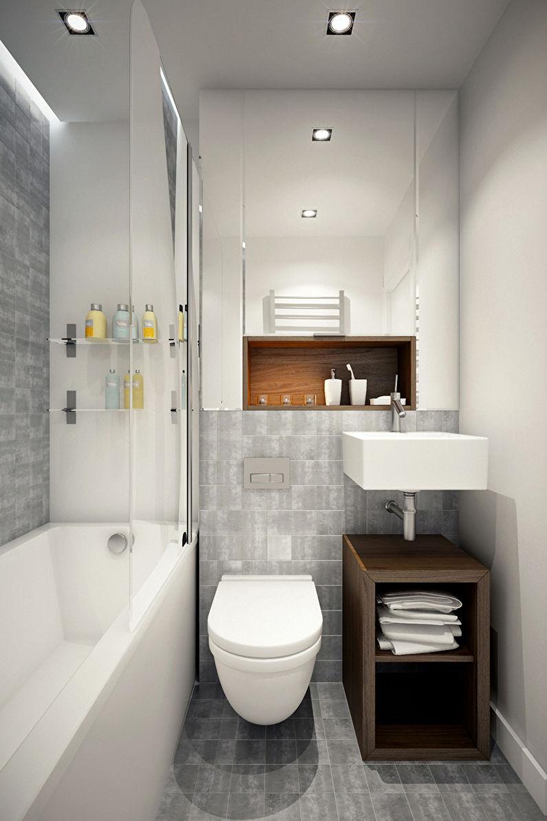 Маленькая ванная комната 3 м²