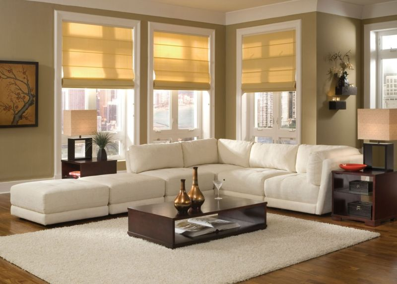 Mediterranean Style sofa with chaise living room Dot & Bo Brand