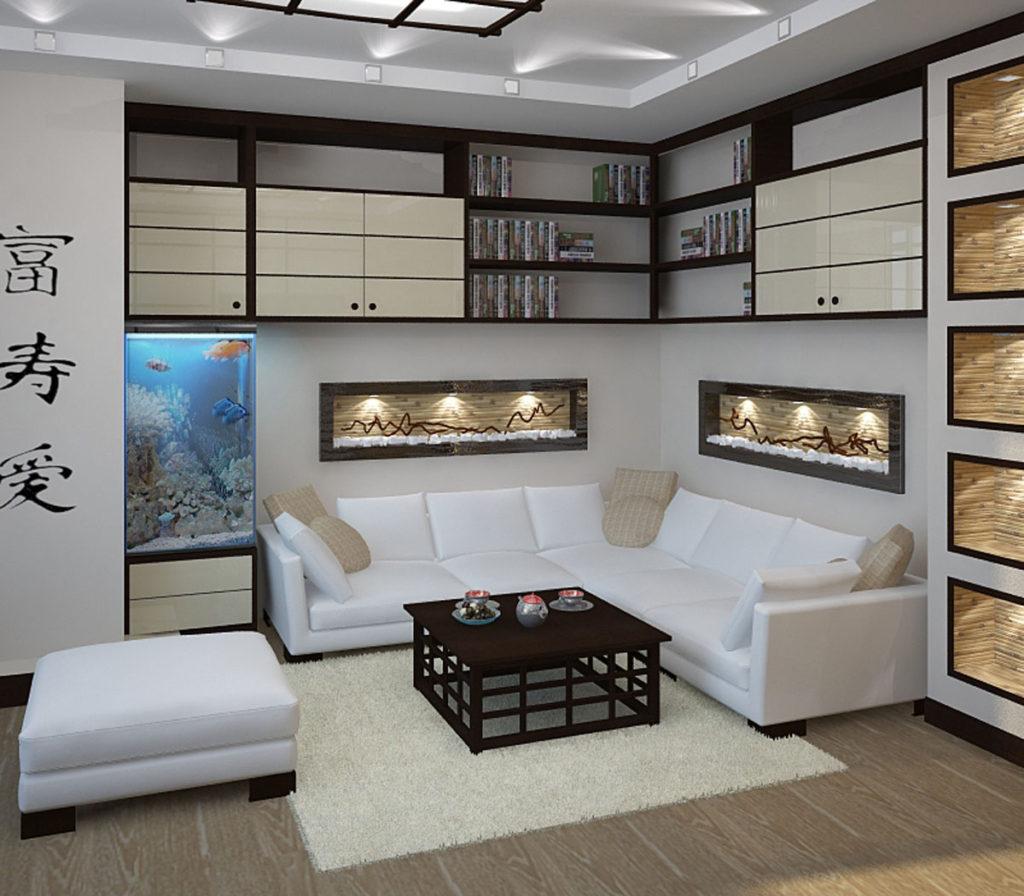 Гостиная в японском стиле дизайн