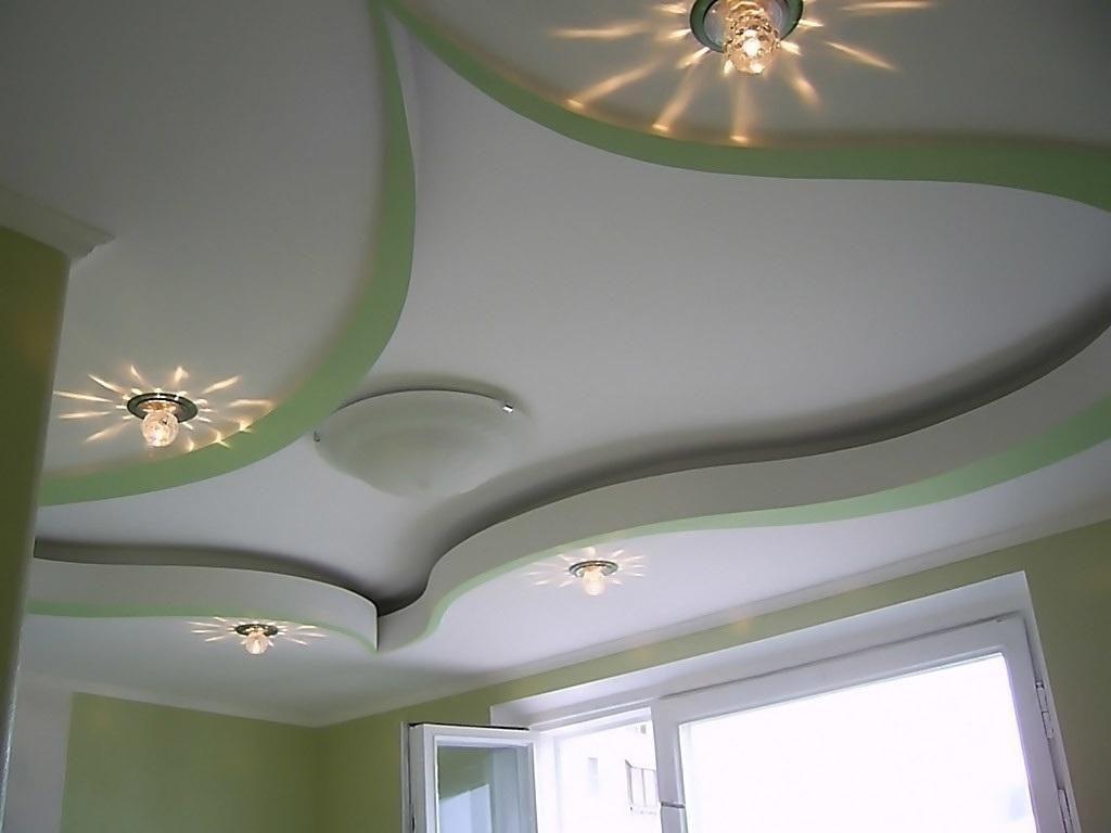 Потолки из гипсокартона - 175 фото лучших идей, какой дизайн 21