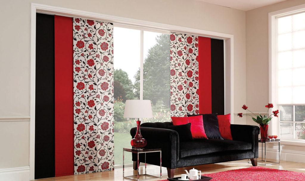 Японские шторы фото в интерьере гостиной