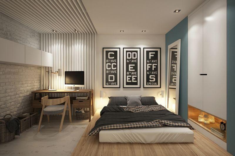 маленькие спальни дизайн интерьера фото 12 метров