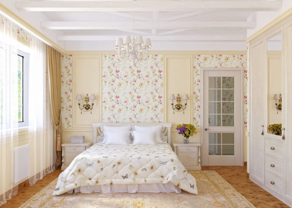 Дизайн маленькая спальня прованс