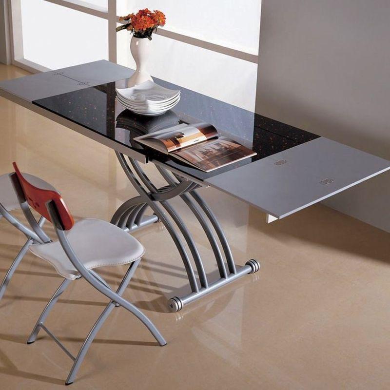 Купить стеклянный стол трансформер журнальный