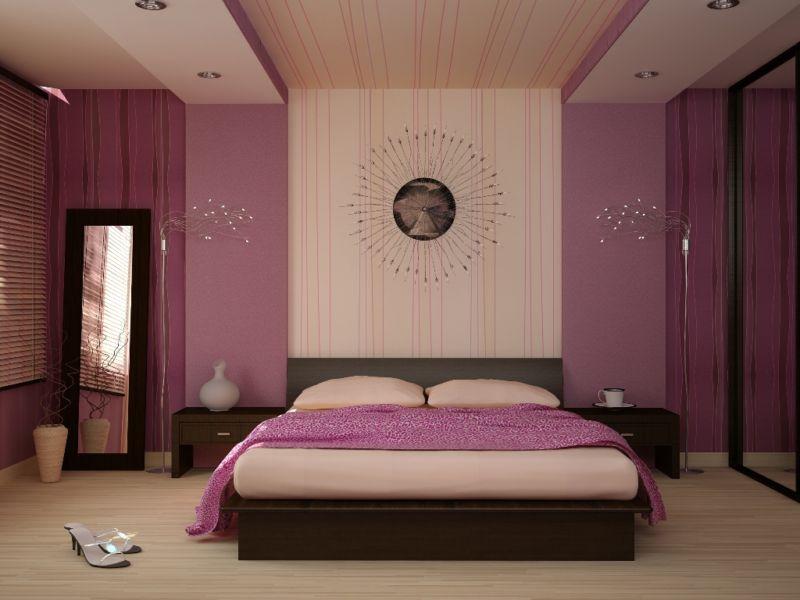 обои в спальню фото интерьеров комбинированные