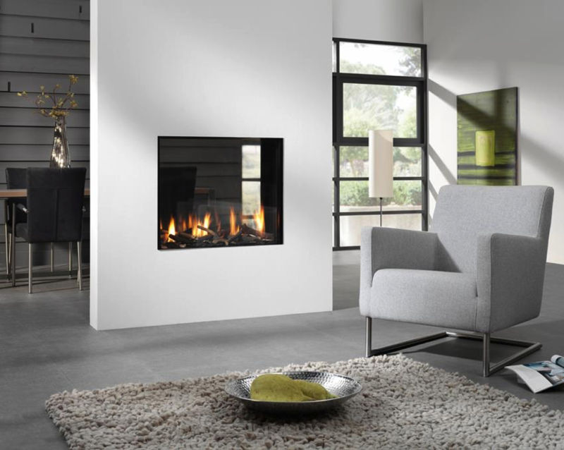 terrific-dual-aspect-modern-wall-mount-fireplace-design-ideas-in-grey-and-white-interior-living-room-modern-themed-inspiration-with-shopisticated-hand-chair-also-fur-rugs-decors