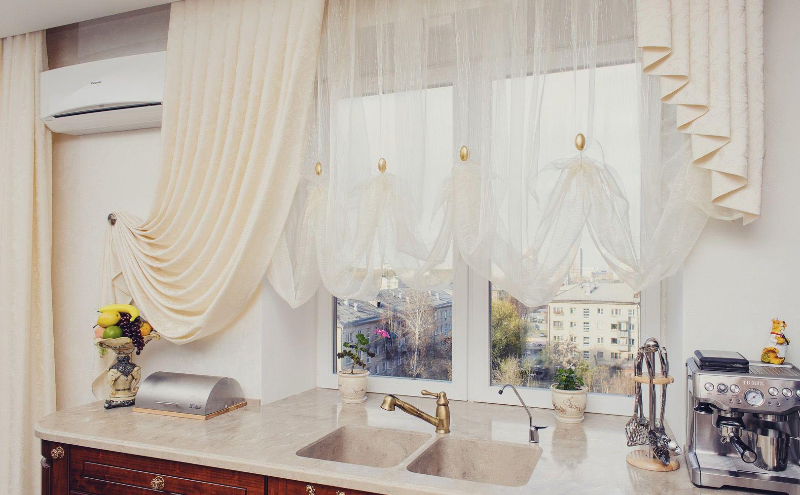 Тюль на кухню - фото лучших новинок