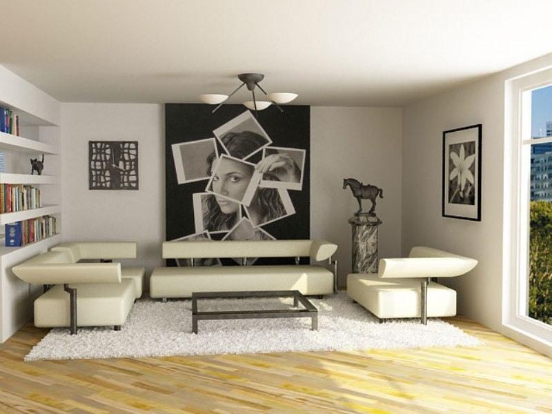 дизайн гостиной минимализм фото