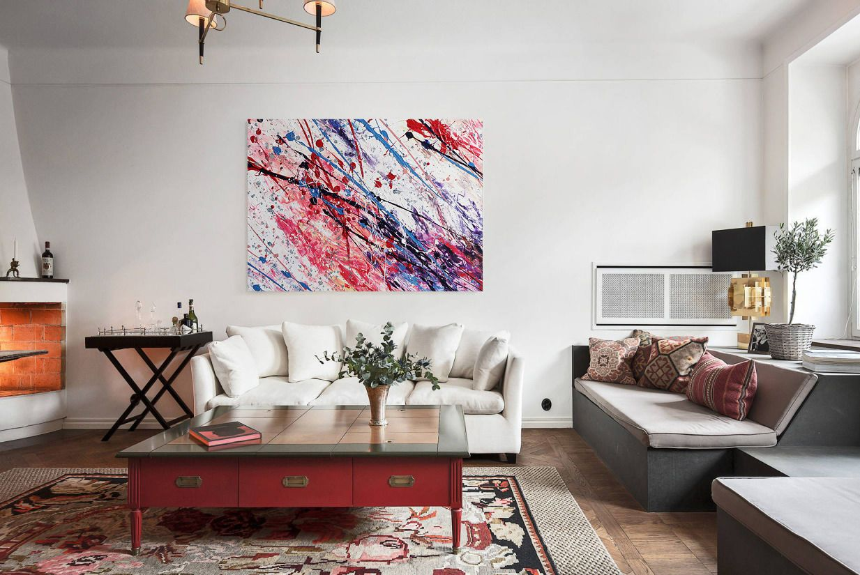 Картины в интерьере современных гостиных