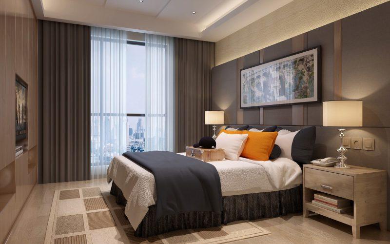шторы в спальню в современном дизайне