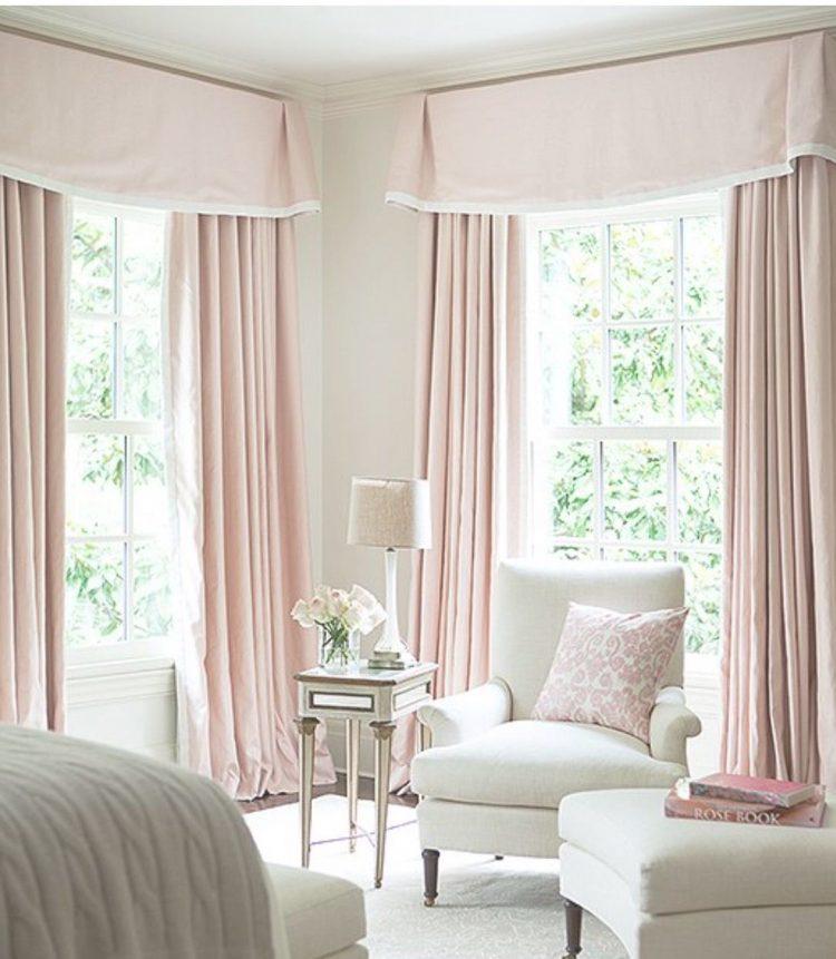 современный дизайн штор для спальни