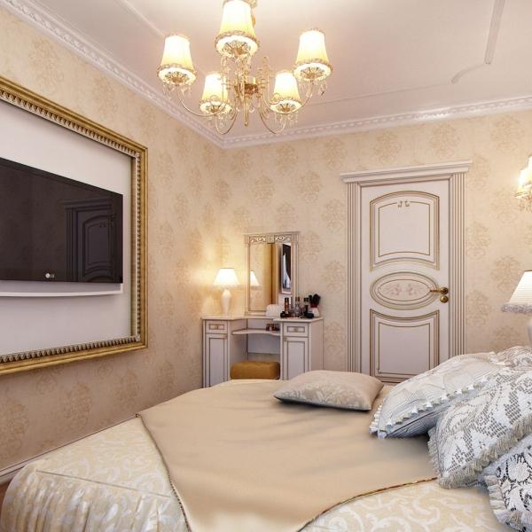 спальни в классическом стиле фото
