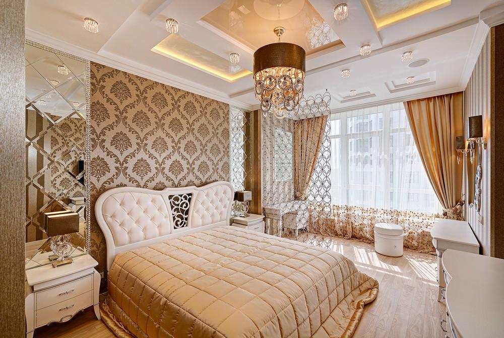 интерьер спальни в стиле современная классика фото