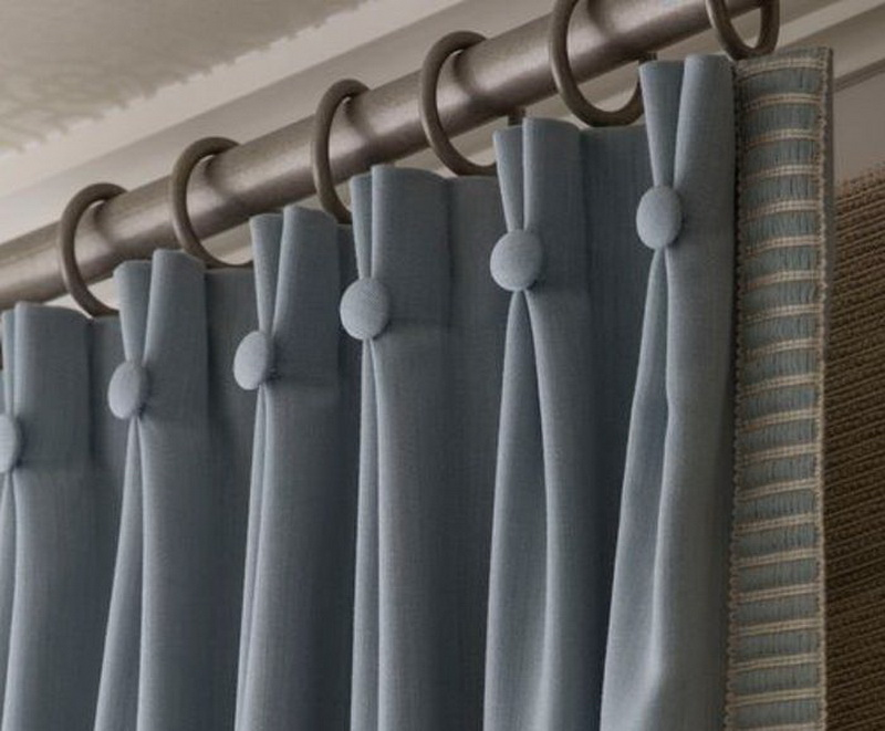 лента для штор с петлями