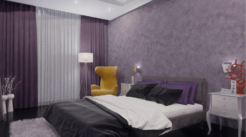 комбинированные обои для спальни