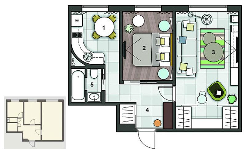 хрущевка 2 комнатная