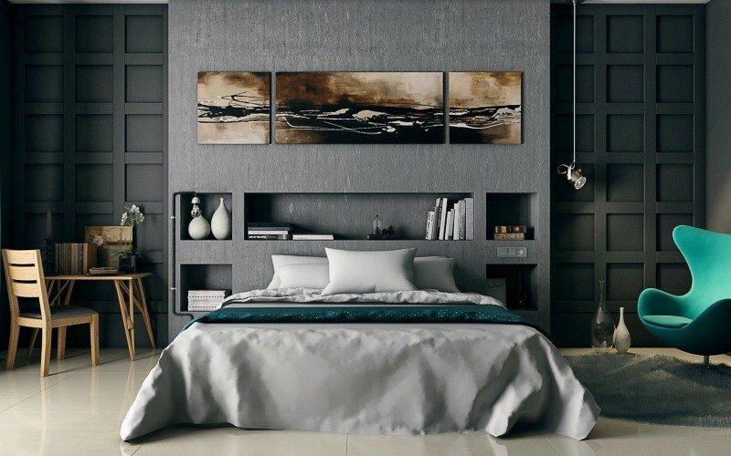 серый пол какие стены
