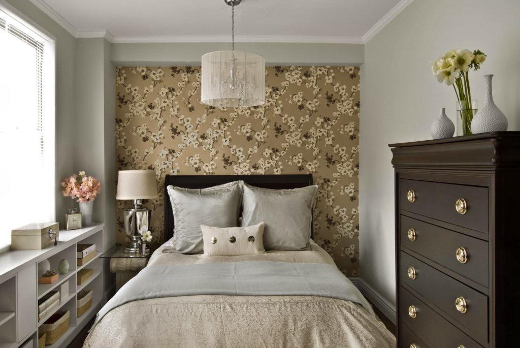 подборка обоев для спальни в двух цветах